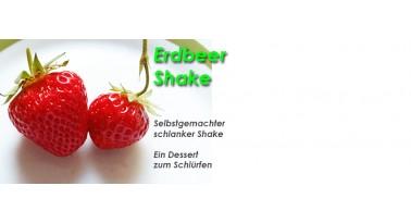 Selbstgemachter schlanker Erdbeer Shake